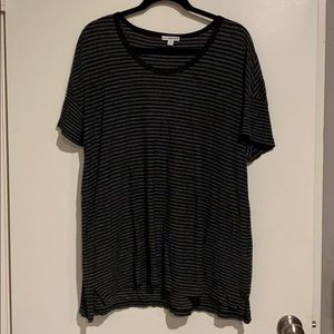 James Perse black/grey striped oversized tee, sz 4